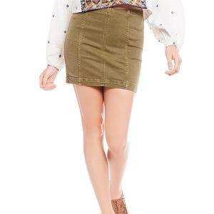 Free People Modern Femme Green Skirt